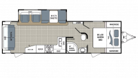 2018 Kodiak Ultimate 290RLSL Floor Plan