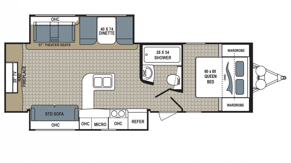 2018 Kodiak Ultimate 291RESL Floor Plan Img