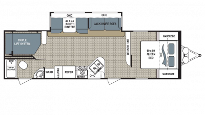 2018 Kodiak Ultimate 295TBHS Floor Plan Img
