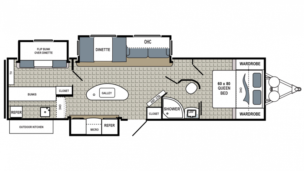 2018 Kodiak Ultimate 330BHSL Floor Plan Img
