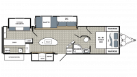2018 Kodiak Ultimate 330BHSL Floor Plan