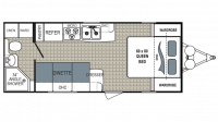 2018 Kodiak Ultra Lite 201QB Floor Plan