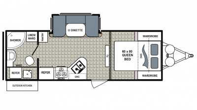2018 Kodiak Ultra Lite 233RBSL Floor Plan Img