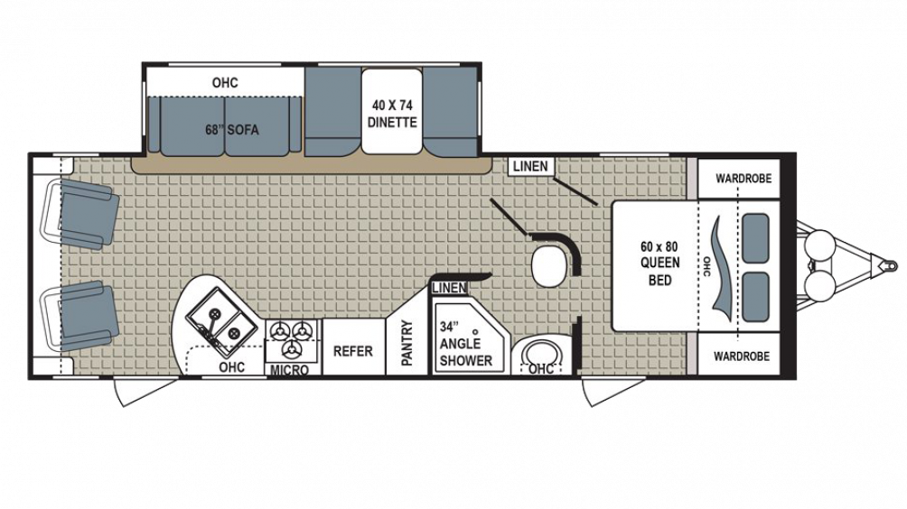 2018 Kodiak Ultra Lite 264RLSL Floor Plan Img