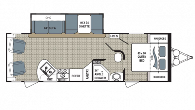 2018 Kodiak Ultra Lite 264RLSL Floor Plan