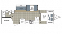2018 Kodiak Ultra Lite 285BHSL Floor Plan