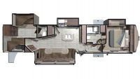 2018 Mesa Ridge MF374BHS Floor Plan
