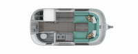 2019 Airstream Nest 16U Floor Plan