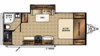 2018 SolAire Ultra Lite 205SS Floor Plan