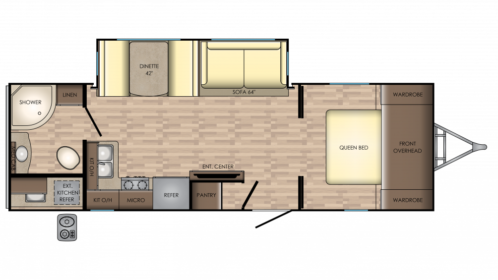 2018 Sunset Trail Super Lite 253RB Floor Plan Img