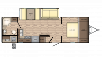 2019 Sunset Trail Super Lite 253RB Floor Plan