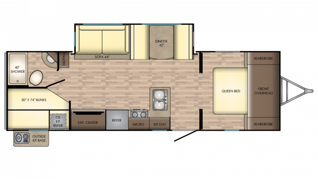 2019 Sunset Trail Super Lite 262BH Floor Plan