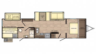 2018 Sunset Trail Super Lite 336BH Floor Plan Img