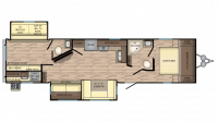 2019 Zinger ZR333DB Floor Plan