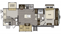 2019 Avalanche 378BH  Floor Plan