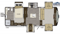 2019 Avalanche 382FL Floor Plan