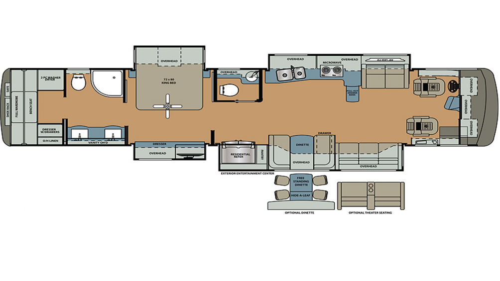 2019 Berkshire XLT 45B-450 Floor Plan Img