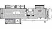 2019 Cedar Creek Silverback 31IK Floor Plan