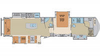 2019 Columbus Compass Series 383FBC Floor Plan