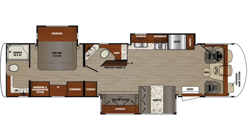 2019 Georgetown 5 Series 34H5 Floor Plan Img
