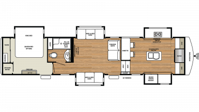2019 RiverStone 39FK Floor Plan Img
