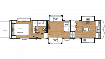 2019 RiverStone 39FKTH Floor Plan Img