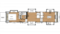 2019 RiverStone 39FKTH Floor Plan
