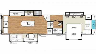 2019 RiverStone 39RLW Floor Plan Img