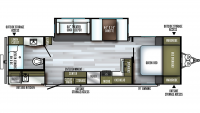 2019 SolAire Ultra Lite 258RBSS Floor Plan