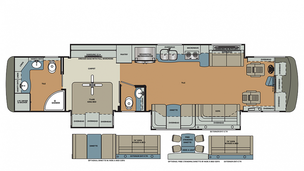 2020 Berkshire XLT 43C-450 Floor Plan Img