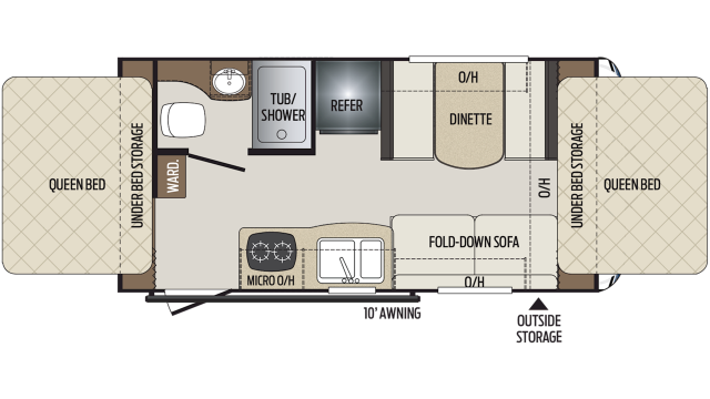 2020 Bullet Crossfire 1650EX Floor Plan