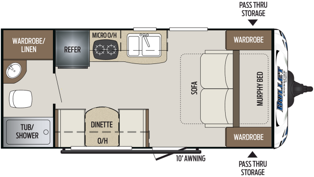 2020 Bullet Crossfire 1800RB Floor Plan