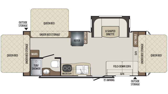 2020 Bullet Crossfire 2190EX Floor Plan