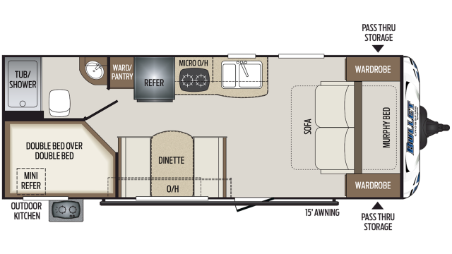2020 Bullet Crossfire 2200BH Floor Plan