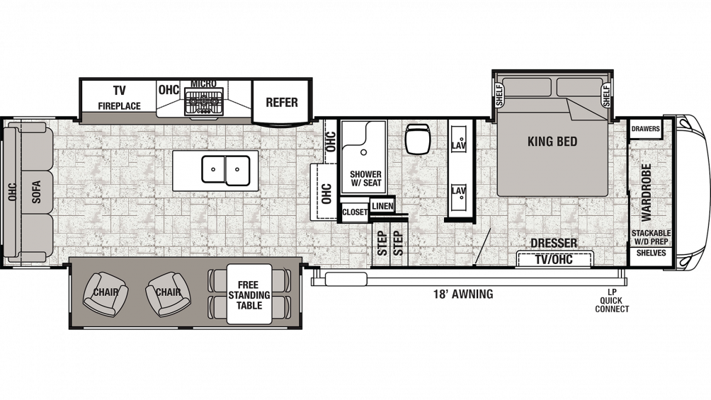 2020 Cedar Creek 34RL2 Floor Plan Img