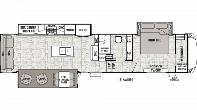 2020 Cedar Creek 36CK2 Floor Plan Img