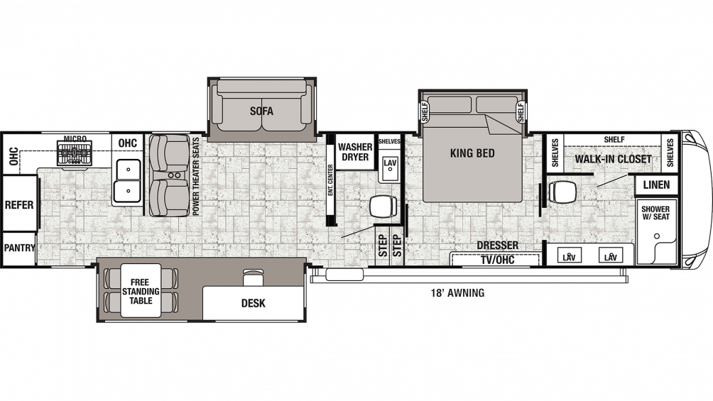 2020 Cedar Creek 38DBRK Floor Plan Img
