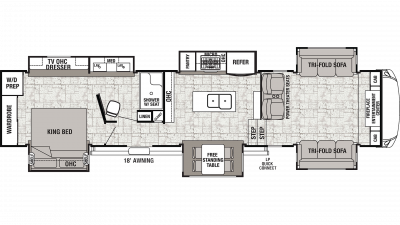 2020 Cedar Creek 38FLX Floor Plan Img