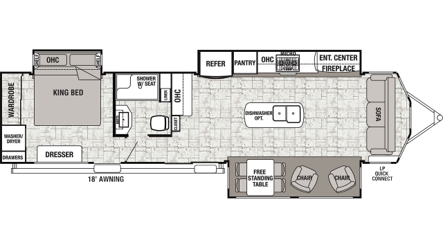 2020 Cedar Creek Cottage 40CCK Floor Plan