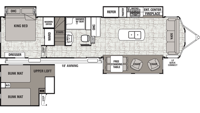 2020 Cedar Creek Cottage 40CL Floor Plan