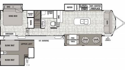2020 Cedar Creek Cottage 40CL Floor Plan Img