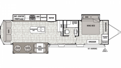 2020 Cedar Creek Cottage 40CRS Floor Plan Img