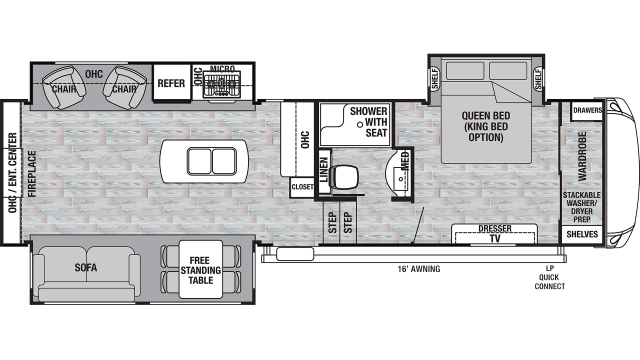 2020 Cedar Creek Silverback 29IK Floor Plan