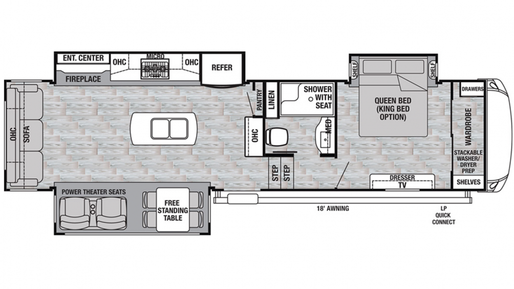 2020 Cedar Creek Silverback 31IK Floor Plan Img