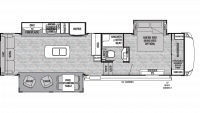 2020 Cedar Creek Silverback 33IK Floor Plan