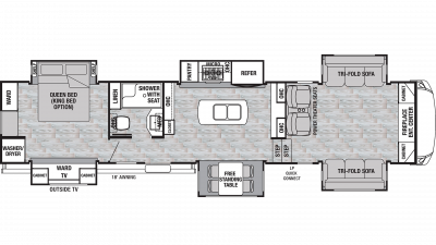2020 Cedar Creek Silverback 37FLK Floor Plan Img