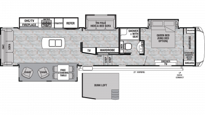 2020 Cedar Creek Silverback 37MBH Floor Plan Img