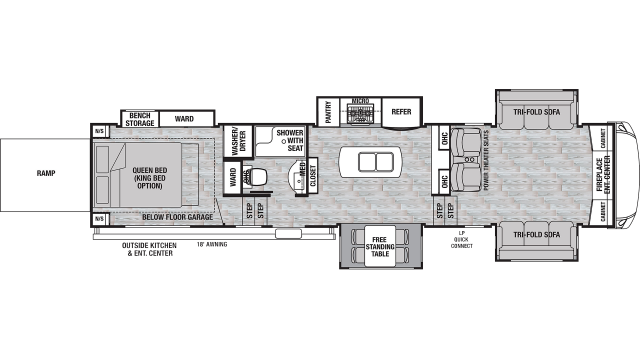 2020 Cedar Creek Silverback 37RTH Floor Plan