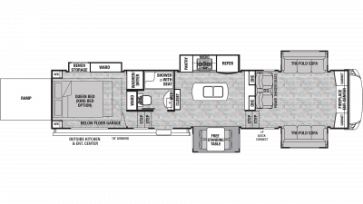 2020 Cedar Creek Silverback 37RTH Floor Plan Img