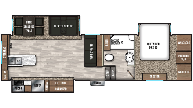 2020 Chaparral 27RKS Floor Plan